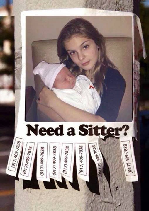 humour baby sitter the walking dead