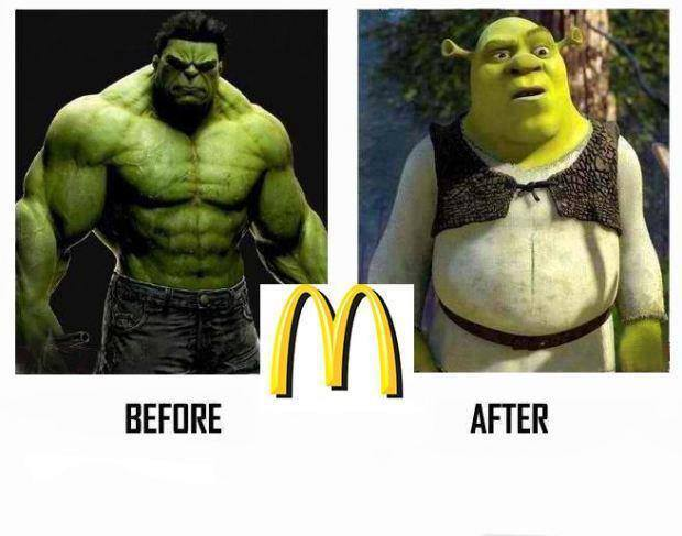 humour mc donald hulk shrek